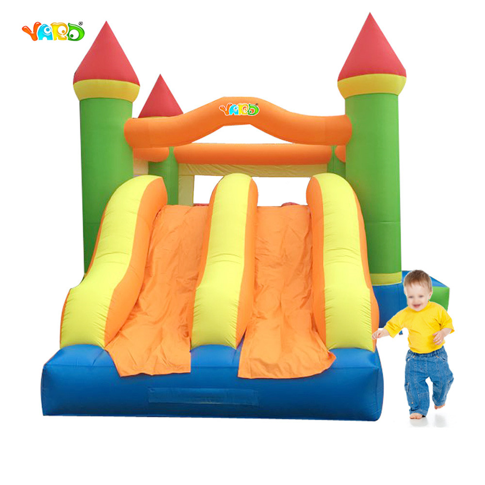 цена на YARD Free Shipping Bouncy Castle Inflatable Bouncer with Slide Trampoline For Kids Bounce House