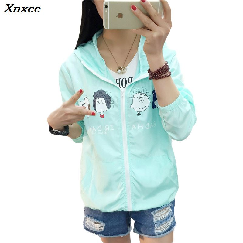 Basic     Jackets   Women Bomber 2018 New Fashion Women's   Jacket   Hooded Casual   Jacket   Slim Windbreaker Female Outwear Women Coat Xnxee