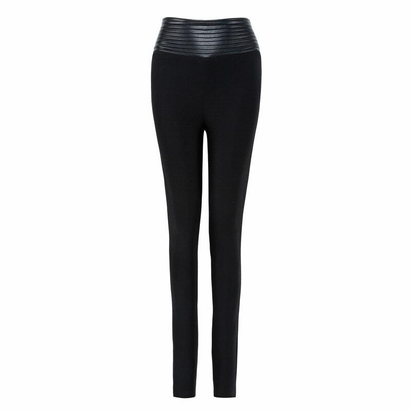Mode Hl Longueur Qualité Sexy Noir Pantalons Leggings Dames Pleine Moulantes Couleur Bandage Haute De WqWXU8v1y