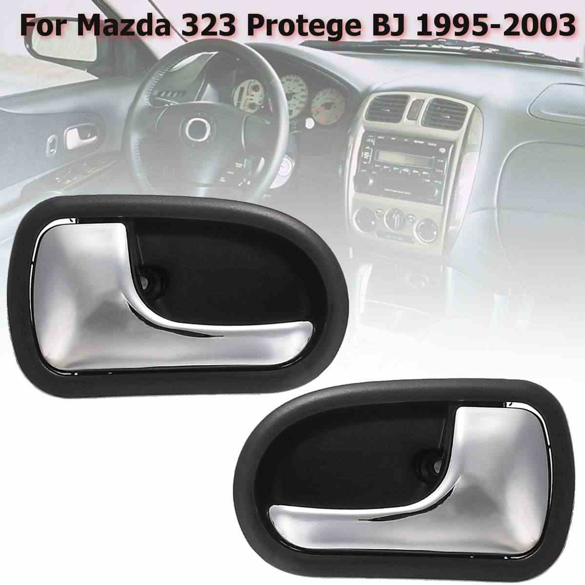Left Right Car Front Rear Chrome Interior Door Handle for Mazda 323 Protege BJ 1995 1996 1997 1998 1999 2000 2001 2002 2003