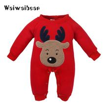 купить Newborn Baby Rompers  Christmas Baby Jumpsuits  Warm Clothes  Long Sleeve Autumn Winter Baby Rompers For Boys And Girls по цене 909.88 рублей