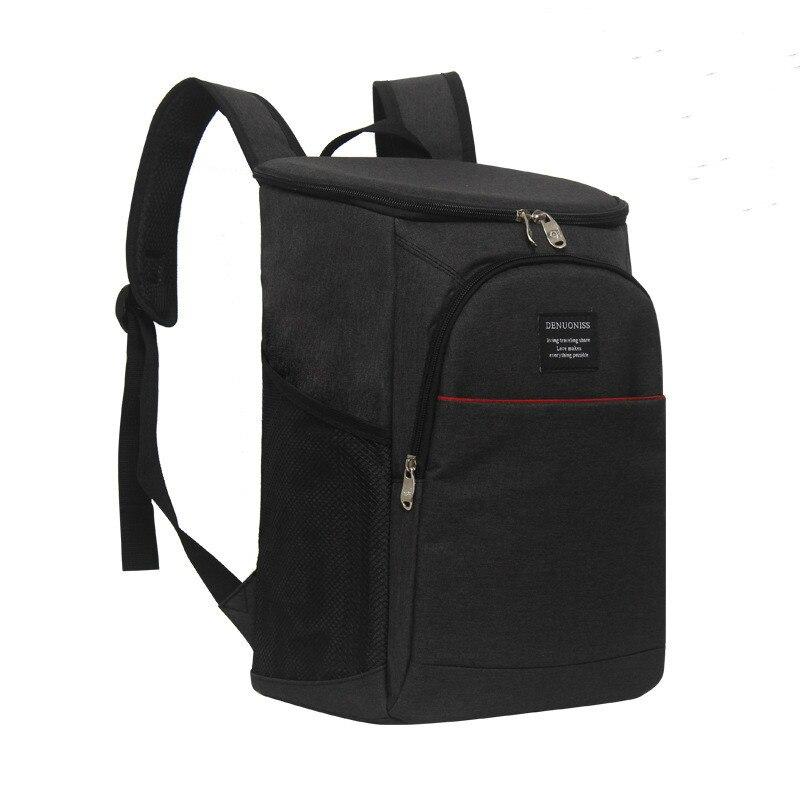 18 Lnew arrivées noir refroidisseur sac portable frais isolation épaule sacs banquise pique-nique boîte à lunch alimentaire thermique isolé sac à main