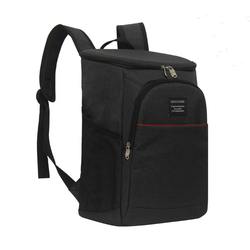 18Lnew arrivals black cooler bag portable cool insulation shoulder bags ice pack picnic lunch box food thermal insulated handbag