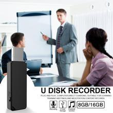 Mini USB 2.0 U Disk Digital Audio Voice Recorder Pen USB Flash Drive 8GB 16GB Micro PC TF Support Windows/Mac цена