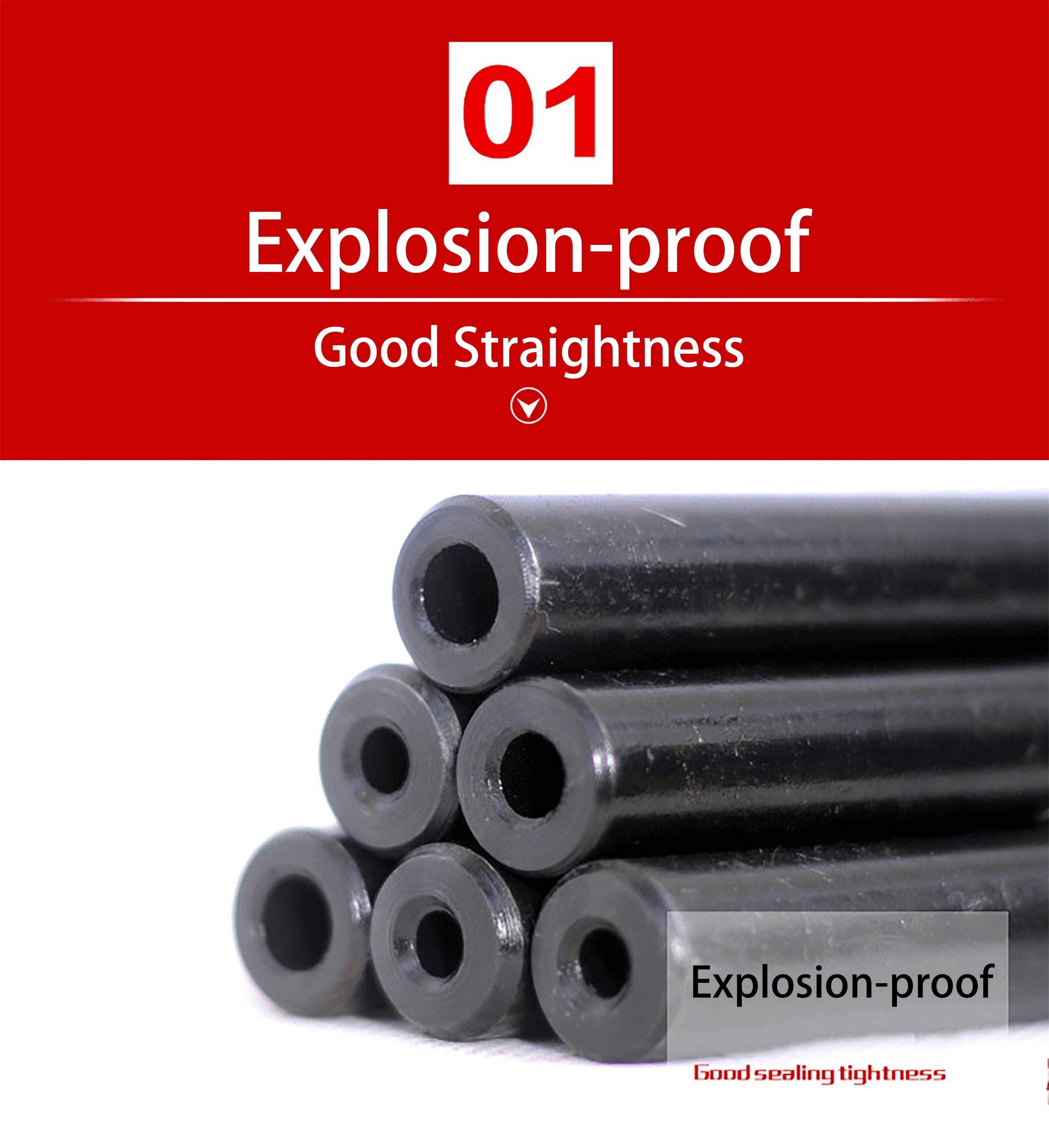 16mm O/D Seamless Steel Pipe Hydraulic Alloy Precision Steel Tubes Seamless Steel Pipe Explosion-proof Tubeprint black
