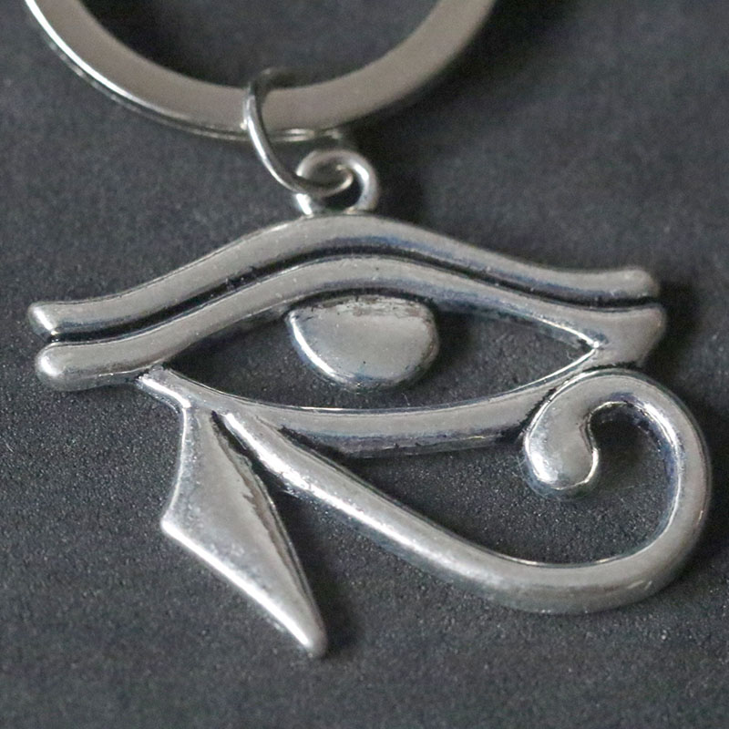 Retro Antique Silver Egyptian Anhk Cross Keychain Egypt The Eye Of Horus Keyrings Anubis God Key Chains Vintage Christmas Gift in Key Chains from Jewelry Accessories