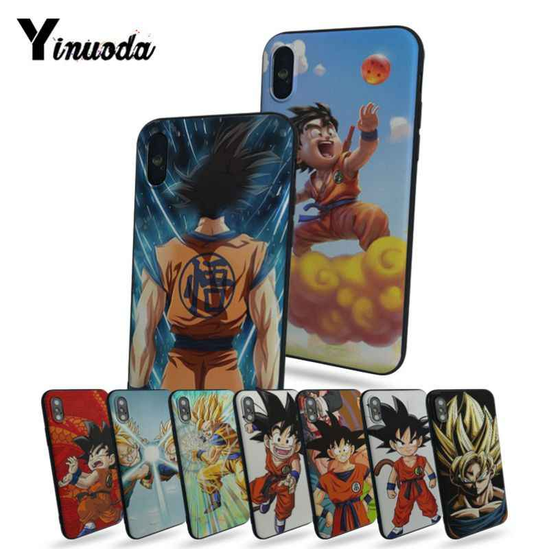 Yinuoda Dragonball Dragon Ball Z Saga Anak Goku Mewah High-End Pelindung Phone Case untuk iPhone X 8 8plus 6 Plus 6 S 5S SE