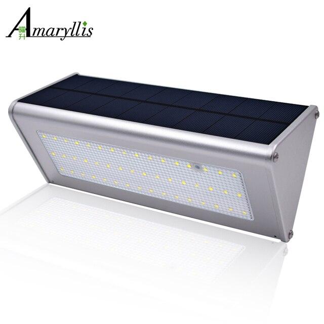 Solar Wandleuchten Im Freien Aluminiumlegierung 48 LED ...