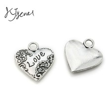 Antique Silver Love Findings