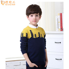 Hot Sale Autumn Winter Children Sweaters Kids Knitted Pullovers O-neck Warm Outerwear Boy Sweaters DQ028