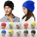 Unisex Para Mujer Para Hombre de Esquí de Punto Caliente del Invierno Sólido de cutton blend Ganchillo Slouch Hat Cap Beanie Gran Tamaño