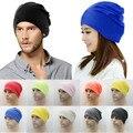 Unisex Womens Men Knit Winter Warm Ski Solid cutton blend Crochet Slouch Hat Cap Beanie Oversized