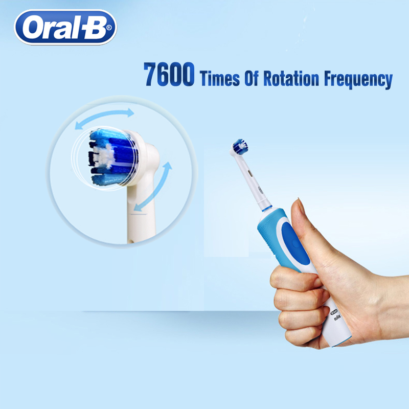 Oral B 2D Rotation Electric Toothbrush Vitality Daily Cleaning Rechargeable Inductive Charge 110-240V Toothbrush Brush Head