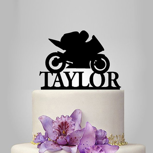 2017 Real Rushed Personalized Acrylic Motorcycle Wedding Cake Topper     2017 Real Rushed Personalized Acrylic Motorcycle Wedding Cake Topper wedding  Stand wedding Decoration