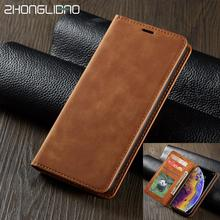 Leather magnetic Flip Case for IPhone X Xs Xr 11 pro Max Wallet Card Slot Holder Stand Cover for IPhone 8 7 6 6s Plus 5 5S coque стоимость