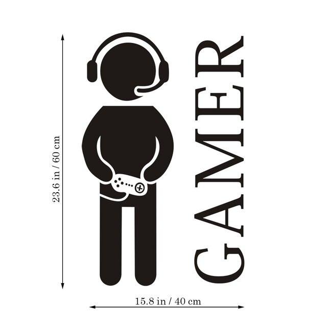 Autocollant mural de Gamer avec contrôleur | Autocollant de jeu pour garçon, autocollant mural en vinyle pour Design artistique, pour la maison, la salle de jeux, la chambre à coucher