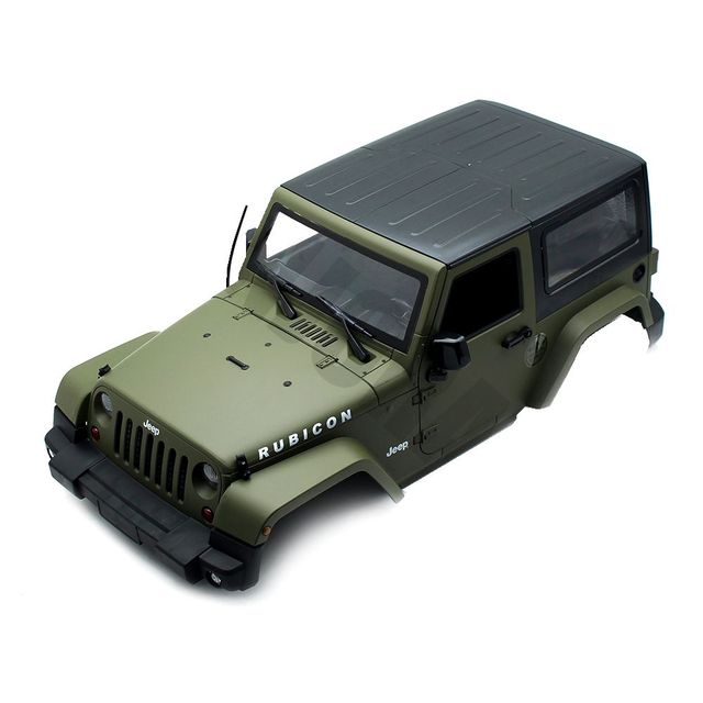 New Army Green 1set 1 10 Crawler Car Axial Hard Body For Rc Jeep