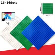 Wange 13*13cm 16*16Dot ABS Plastic DIY Baseplate Action Figures Minifigures Building Blocks Plate Bricks Kids Children Toys Gift