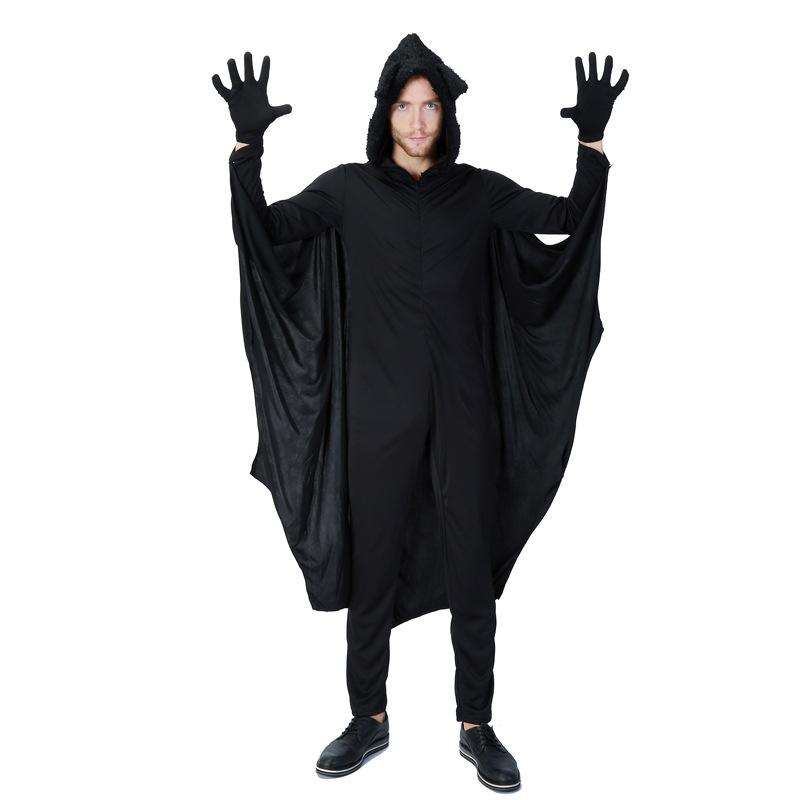 adulto hombre murcilago vampiro disfraces de halloween party cosplay alas negras para los hombres mono hroe