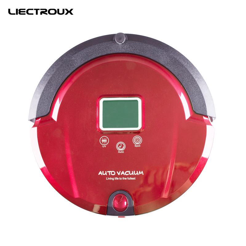 Liectroux A320 Robot Vacuum Cleaner (Sweep,Vacuum,Mop,Sterilize),LCD,Touch Button,Schedule Work,Virtual Blocker,AutoCharge free for russian buyer 4 in 1 multifunctional robot vacuum cleaner with virtual blocker self charging lcd touch liectroux