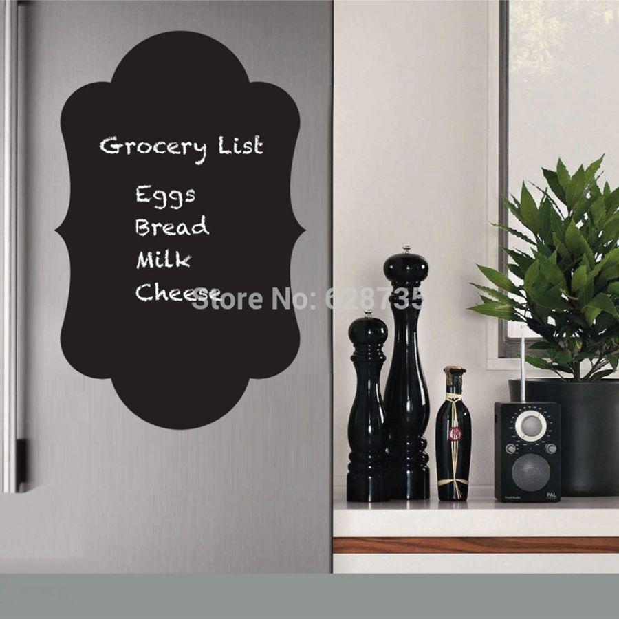 Chalkboard Fridge Decal For Kitchen Decor Chalkboard