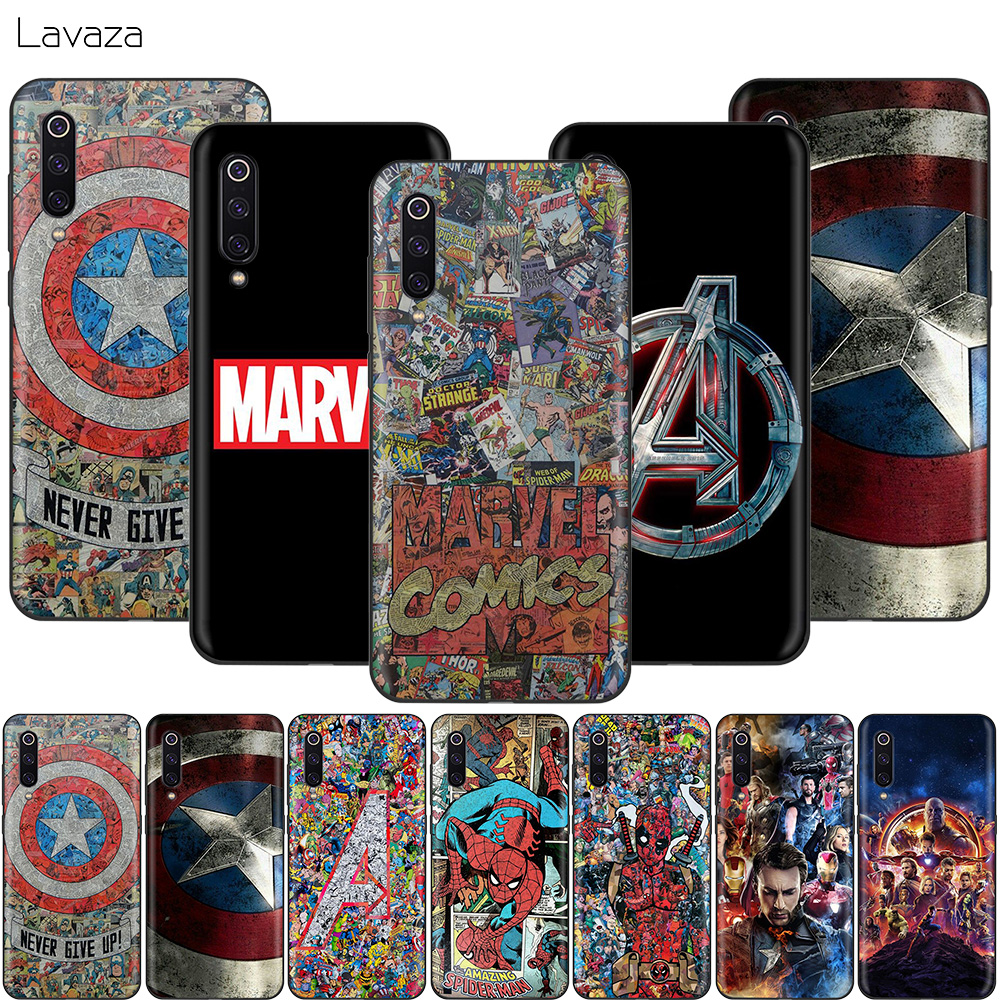 Lavaza <font><b>Marvel</b></font> Avengers Hero <font><b>Case</b></font> for <font><b>Xiaomi</b></font> <font><b>Redmi</b></font> <font><b>Note</b></font> 8 8A 7 6 6A 5 5A <font><b>4</b></font> 4X 4A Go Pro Plus Prime image