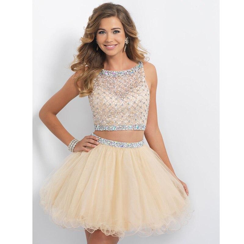 Popular 2 Piece Short Prom Dresses 2015-Buy Cheap 2 Piece Short ...