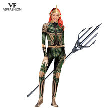 VIP Fashion Baru Cosplay Neptune Kostum Wanita Anime Komik Justice League Bodysuit Super Hero Superman 3D Komik Jumpsuit(China)