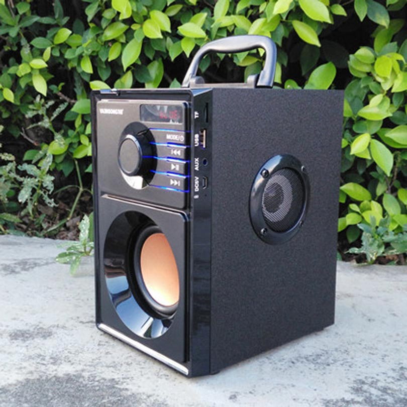 VAENSONG A10 ағаш HiFi Bluetooth спикер 2.1 Стерео - Портативті аудио және бейне - фото 2