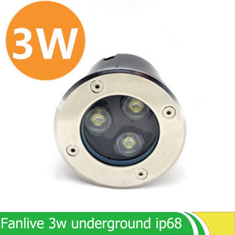 8Pcs/lot Recessed Uplighting For Sale 3W AC85-265V IP65 White/Cool White Aluminum Parking Garden Outdoor Decking Lighting Lamp ...