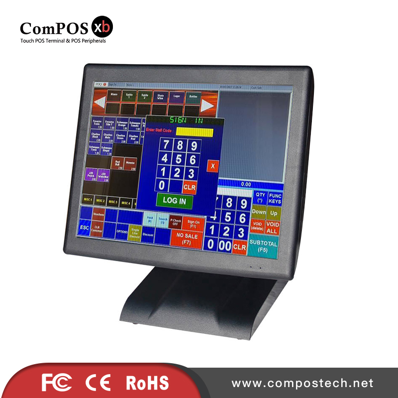Touch POS System All in One PC POS Touch System with VFD customer display on sale