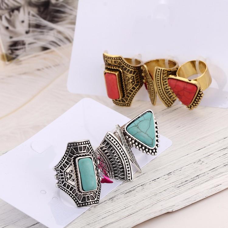 HTB1Xwi9MVXXXXbVXVXXq6xXFXXXm Boho Style 3-Pieces Vintage Punk Knuckle Ring Set For Women - 2 Colors