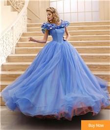 2015-Movie-Cinderella-Cosplay-Dress-For-Adult-Custom-Made-Fancy-Princess-Vintage-Wedding-Dress-Bows-Blue