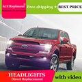 Авто освещение стиль светодиодный фонарь для Ford F150 светодиодный фары 2018-2019 сигнальный светодиодный H7 hid Bi-Xenon объектив ближний свет