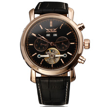 High Quality Watches Calendar Tourbillon Auto Date Military Mechanical Mens Watch Top Brand Luxury Gold Automatic Wristwatch