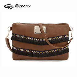 Sac à pompon Vintage en cuir PU pour femmes sac à bandoulière bandoulière sac à main femme de marque bolsas femininas petits sacs