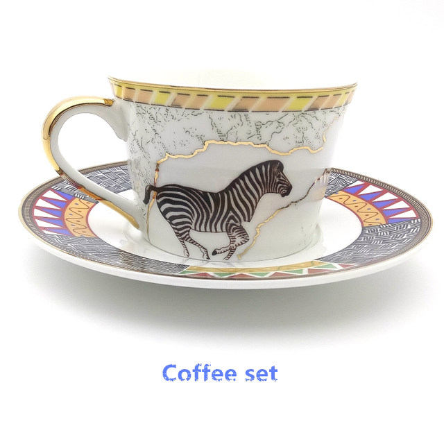 Retro Egyptian Style Art Bone China Dinnerware Set Map Of Africa Animal Pattern Ceramics Steak Dinner Plate Set With Coffee Mug  sc 1 st  Aliexpress & Online Shop Retro Egyptian Style Art Bone China Dinnerware Set Map ...