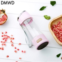 DMWD 300 Ml Rich Hydrogen Cup USB Rechargeable Water Generator Electrolysis Energy Hydrogen Rich Antioxidant H2