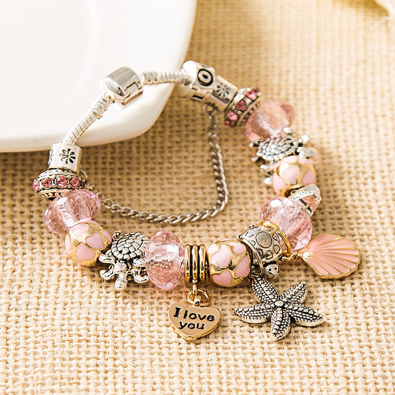 pandora charm rosa antico
