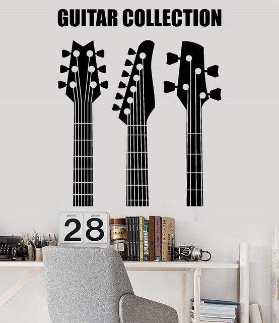 Della parete del vinile applique guitar collection negozio strumento musicale gioventù dormitorio bar discoteca poster casa decorazione di arte 2YY12