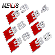 S LINE S3 S4 S5 S6 S8 logo Emblem Badge metal auto tail 3D stickers For