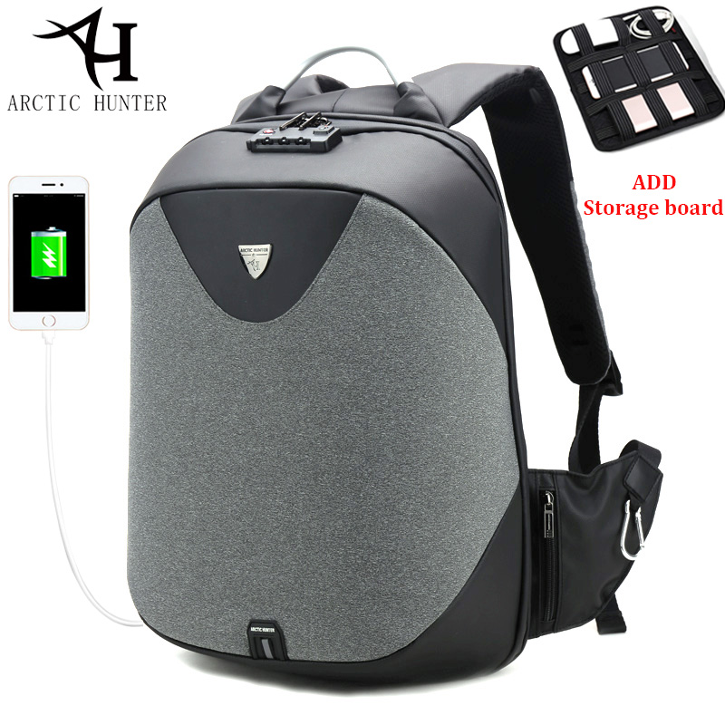 ARCTIC HUNTER TSA Lock Laptop Backpack Women Waterproof Nylon Backpacks Men Casual Business Travel mochila escolar Gift arctic hunter design backpacks men 15 6inch laptop anti theft backpack waterproof bag casual business travel school back pack