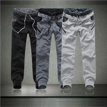 Grau Jogger und Schwarz Baumwolle Jogger Jogginghose Mode Lose 4 Farben Lässige Sportswear Reißverschluss Emoji Jogger Männer Freies Verschiffen