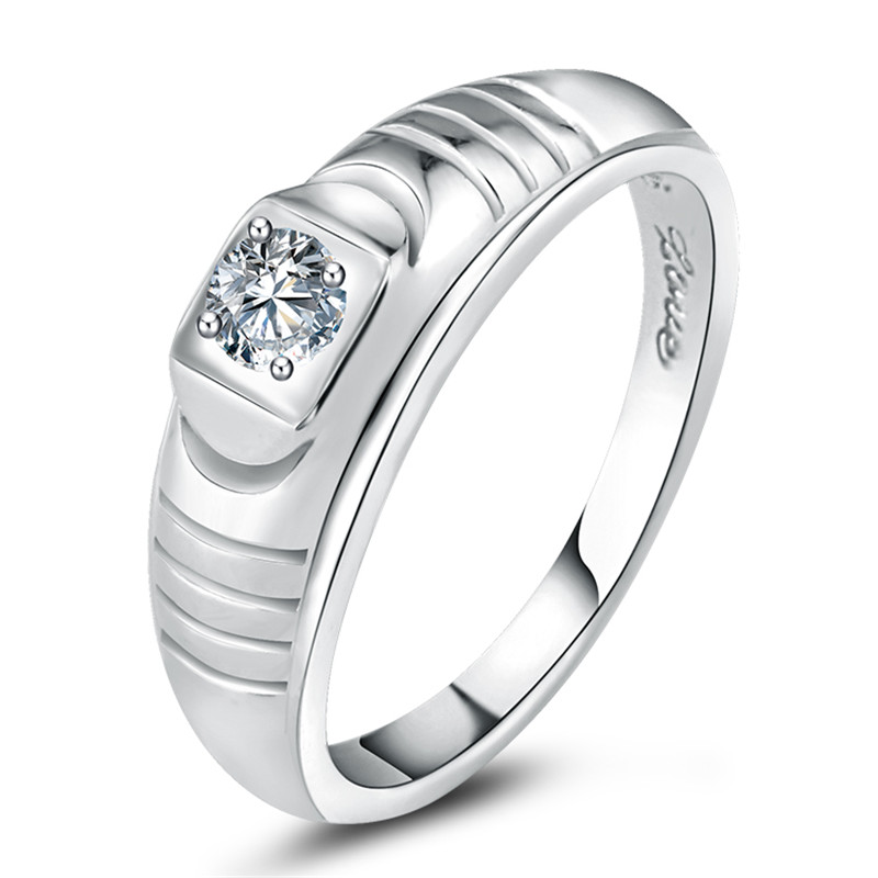 l&zuan Jewelry 925 Sterling Silver Rings For Men Wedding