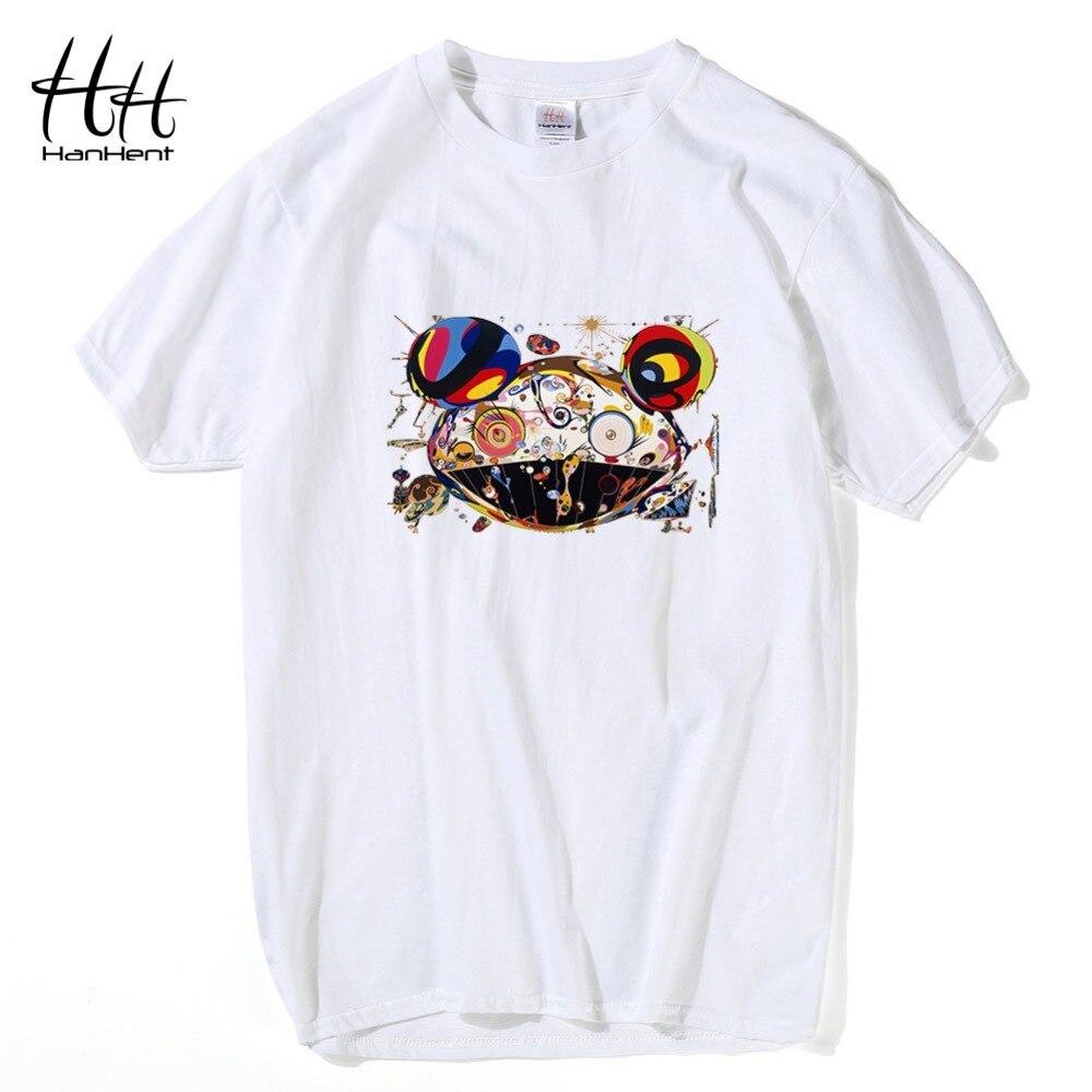 Hanhent Novelty Rock Pop Band T Shirts High Quality Summer