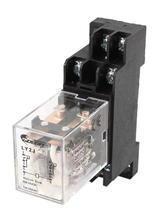 цена на MY2J 35mm DIN Rail DPDT 8P General Purpose Power Relay AC 24V Coil w Socket