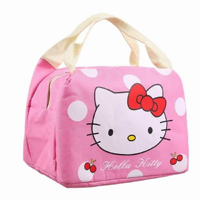Hello Kitty Thermal Picnic Cooler Insulated Portable Lunch Box Bag Travel