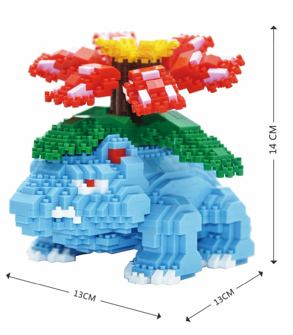 Big size Mini Blocks Cartoon Assembling Bricks DIY Building Toys Educational Toys Kids Gifts Children Toys Figures Bulbasaur 12pcs set children kids toys gift mini figures toys little pet animal cat dog lps action figures
