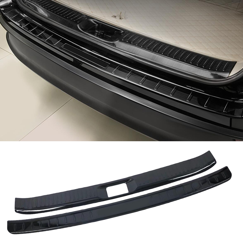 Exterior Accessories For Toyota Highlander 2018 Stainless steel Rear Guards Rear Bumper Trunk Fender Sill Plate Cover Molding car styling stainless steel inside rear bumper sill protector 2015 2017 for toyota highlander new rear rear fender guard