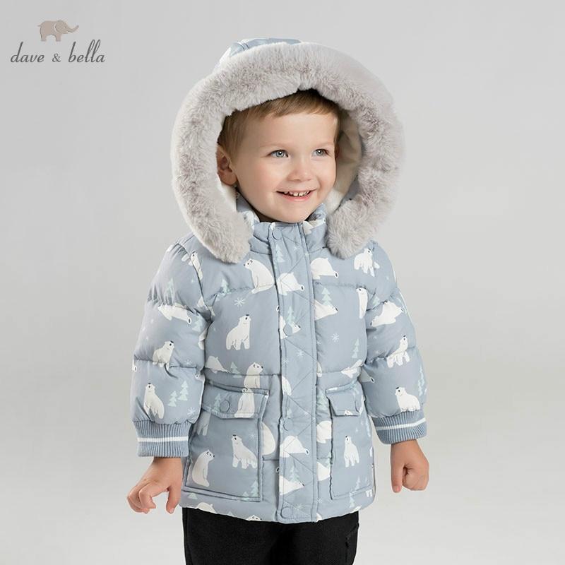 DBM9246 dave bella BABY BOYS down jacket children hooded outerwear infant toddler Polar bear print boutique padding coat db8695 dave bella baby boy down jacket children hooded outerwear infant toddler boutique 90